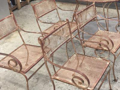 Powder coating outdoor patio furniture
